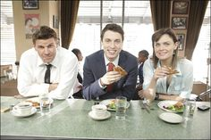 Booth, Sweets, Bones. Gonna miss Sweets so much! :'{