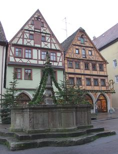 Rothenburg ob der Tauber...the oldest city in Germany that still has it's original ancient walls surrounding it.  Beautiful!