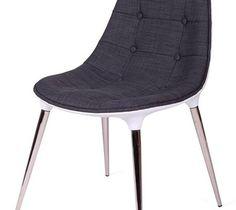 Krzesło King Bath Philippe Passion tkanina szara kod: EV-KA-062.SZ.B - do kupienia: www.superwnetrze.pl - Krzesła kuchenne - zdjęcia, pomysły, inspiracje - Homebook
