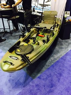 Great pic of our new The Catch 120 #fishing #kayak in @ICASTshow booth of @ScottyProducts. Come see us - #1117 #ICAST