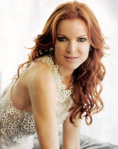 Marcia Cross - long red