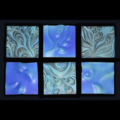 Handsculpted Sgraffito Carved Ceramic Wall Art Tile By