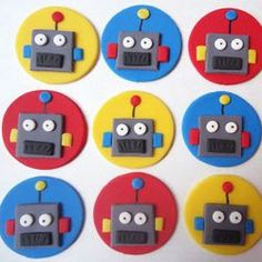 Image result for robot fondant