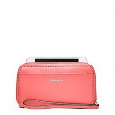 SAFFIANO LEATHER EAST/WEST UNIVERSAL CASE   $68.00   style:64976 Coach