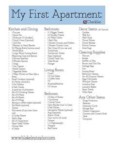 Apartmemt Checklist