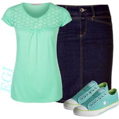 A fashion look from August 2014 featuring Anna Field tops and Converse sneakers. Browse and shop related looks.