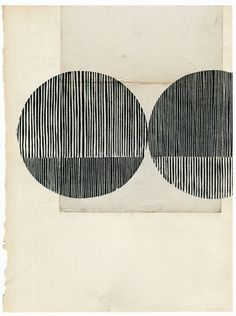blueberry modern //:  woodblock on vintage paper by Kate Costelli
