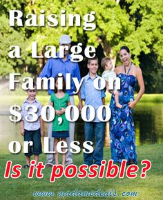 Raising a Large Family on $30,000 or Less, is it possible?