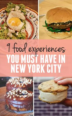 9 food Experiences You Must Have in New York City (I can't wait to try some of these!)