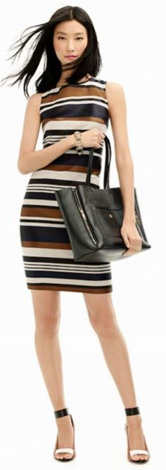 "Ann Taylor Stripes Business Casual (=^.^=) Thanks, Pinterest Pinners, for stopping by, viewing, re-pinning, & following my boards.  Have a beautiful day! ^..^ and ""Feel free to share on Pinterest ^..^  #women #topfashion #fashionandclothingblog"