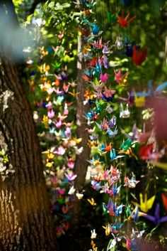 Again, love the paper cranes! And I still remember how to make them too!