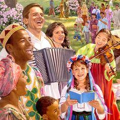 Happy people enjoying life on a paradise earth
