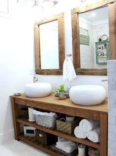 mobile bagno mensole legno - Cerca con Google