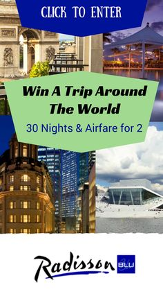 #PaperCity Contest: Win a trip around the world. Click to enter. 30 nights at…