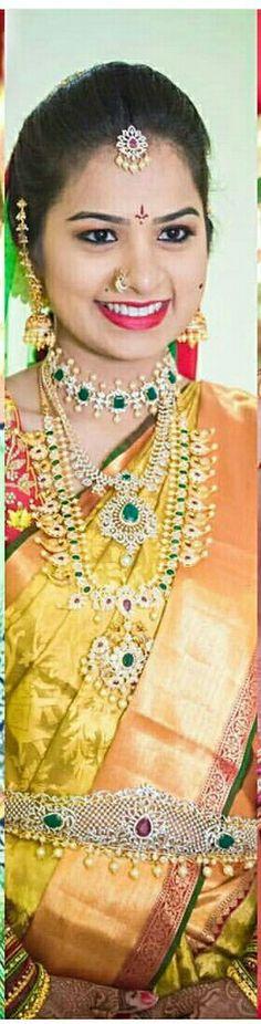 India Jewelry, Gold Jewelry, Jewelery, Indian Wedding Bride, Indian Bridal, Jewellery Designs, Jewelry Patterns, Dimonds, Gold Designs