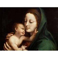 Madonna con Bambino Canvas Art - Anonymous (22 x 28)