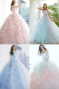 26 Ethereal Wedding Dresses That Look Like They Belong in Fairy Tales! wedding fairy tales 26 Ethereal Wedding Dresses That Look Like They Belong in Fairy Tales! Cute Prom Dresses, Dream Wedding Dresses, Ball Dresses, Pretty Dresses, Wedding Gowns, Ball Gowns, Wedding Bridesmaids, Colorful Prom Dresses, Short Dresses
