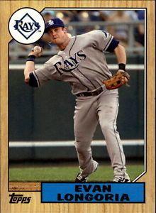 2012-RAYS-Topps-1987-Topps-Minis-TM20-Evan-Longoria NM-MT Mini Card Have 1 for trade/sell