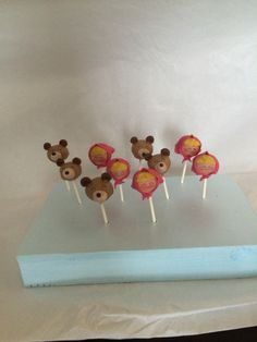 Masha and the Bear cake pops