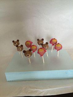 Masha and the Bear cake pops