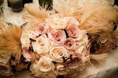 A muted pallet enhances the romance of any wedding. It works with most themes whether you are going for Victorian, coastal, or rustic; gentle colors will soften the feel of the event and promote a relaxing atmosphere. If you don't want to divert attention from the dress, choose quieter colors like white, light pinks and yellows and keep contrasting colors to a minimum. ~cjc