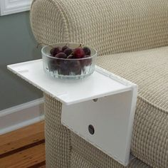 Great idea  when there is no option for side tables.                                  Fab.com | The Side Table Reinvented