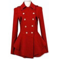 139,90€ Mantel rot im military Style Christmas