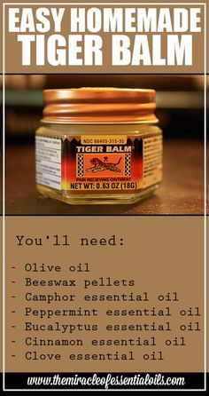luxury cars - Looking for an easy homemade essential oil tiger balm recipe that works like a charm Look no further! This is the best tiger balm recipe ever and it is effective for a wide range of symptoms! Our fast paced lives guided by technology and the Homemade Essential Oils, Cinnamon Essential Oil, Essential Oil Blends, Manuka Essential Oil, Tiger Balm, Natural Medicine, Herbal Medicine, Home Remedies, Natural Remedies