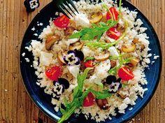 Low Carb Diätplan: Rezept Risotto mit Ziegenfrischkäse