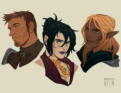 My fave Dragon Age: Origins squad: Alistair, Morrigan, & Zevran.