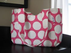Cupcake Diaper Bag with Hot Pink Dots from My Freckles Shop