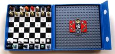 LEGO Star Wars Travel Chess Set - huh, this opens a world of possibilities in my head. LEGO for travel games is genius! Star Wars Chess Set, Lego Chess, Kings Game, Operation Christmas Child, Business For Kids, Cool Items, Lego Star Wars, Legos, Geek Stuff