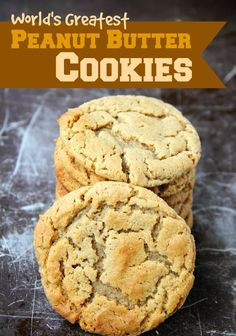 Recipes and Cooking Tips: World's Greatest Peanut Butter Cookies