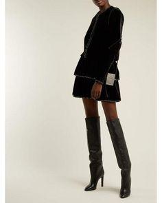 eeae69051e7 Saint Laurent - Black Kate Knee High Leather Boots - Lyst Shoe Boots