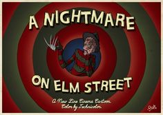 A Nightmare on Elm Street 'Looney Tunes' style - movie poster - James Stayte Slasher Movies, Horror Movie Characters, Horror Movies, Funny Horror, Horror Artwork, Horror Monsters, Horror Icons, Classic Monsters, Freddy Krueger