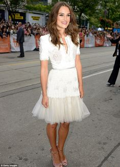 Glowing: Keira Knightly made an elegant arrival to the premiere of The Imitation Game at the Toronto Film Festival on Tuesday