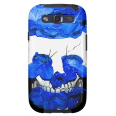 Blue Flowers In A Skull Samsung Galaxy SIII Covers