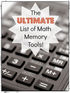 The Ultimate List of Math Facts Memory Tools from Intoxicated on Life