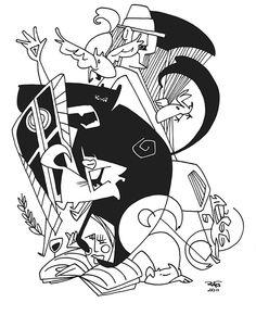 Illustration Chronique for Philosopher Márcia Tiburi - www.vidabreve.com.br