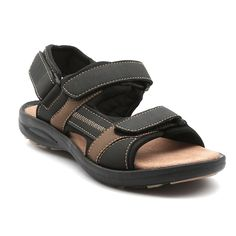 Ajanta Beige::Black Men Sandals