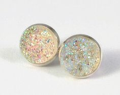 Druzy Studs in Sparkle Clear - Edit Listing - Etsy