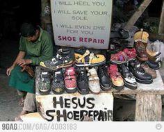 Best shoe repair tagline..