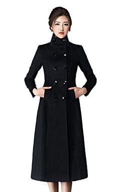 Women's Double Breasted Lapel Walker Long Wool Coat The wool coat is perfect completing with trousers and sweater,it is a new way to layer your separates this winter. Production Material:35% wool,65% polyester Vertical welt pockets at waist Double breasted long wool coat featuring princess...  More details at https://jackets-lovers.bestselleroutlets.com/ladies-coats-jackets-vests/wool-pea-coats/product-review-for-chickle-womens-double-breasted-lapel-walker-long-wool-co