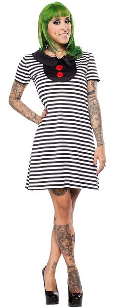 JESSICA LOUISE SCHOOLGIRL DRESS We love this dress and you will too!! Featuring an adorable collar and red button details, this Schoolgirl Dress from Jessica Louise is super comfortable and ready to wear! Pair it with your favorite shoes for an easy to dress up or down look!! $52.00 #jessicalouise #dress #striped