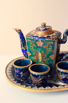 SALE Vintage Asian Tea Set 'Chaji'. $50.00, via Etsy.
