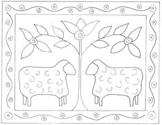 needle punch patterns free primitive - Google Search
