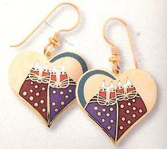 Laurel Burch earrings.