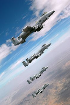 A-10s. These planes have guns so massive, they have to build the plane around the gun.