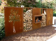 Bildergebnis für houtopslagplaats in de tuin pinterest