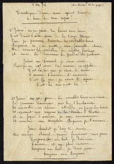 Poem written by Thérèse for Marie Guerin when she entered Carmel